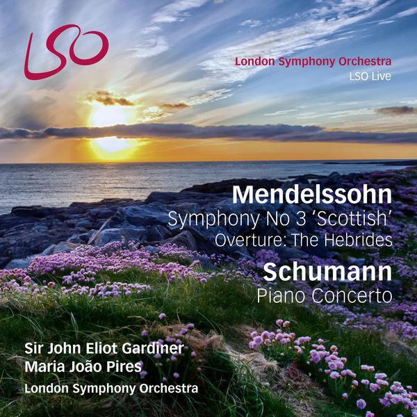 Schumann piano concerto Mendelssohn Symphony No. 3 Maria Joao Pires John Eliot Gardiner LSO Live