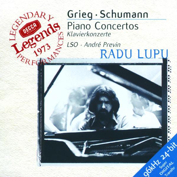 Grieg Schumann Piano Concertos Radu Lupu André Previn, London Symphony Orchestra Decca