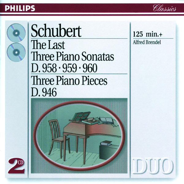Schubert: The Last Three Piano Sonatas Three Piano Pieces D 958 959 960 946 Alfred Brendel Philips