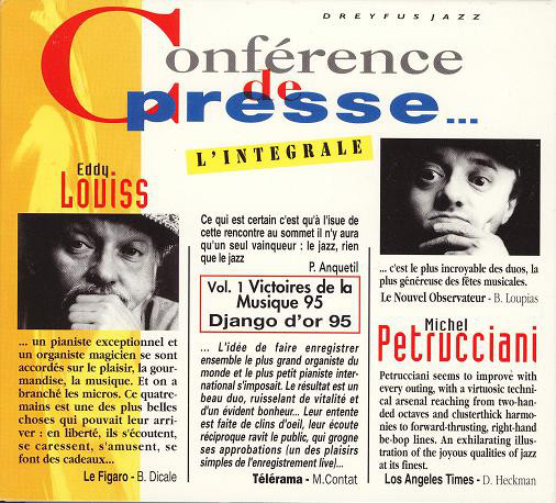 Michel Petrucciani Eddy Louiss Conférence de Presse Dreyfus 1994