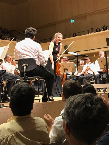 Janine Jansen after the Brahms Violin Concerto June 28, 2019 Tonhalle Maag with Herbert Blomstedt Tonhalle Orchestra