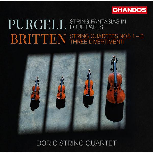 Britten Purcell String Fantasias in four parts String quartets no 1 - 3 Doric String Quartet Chandos
