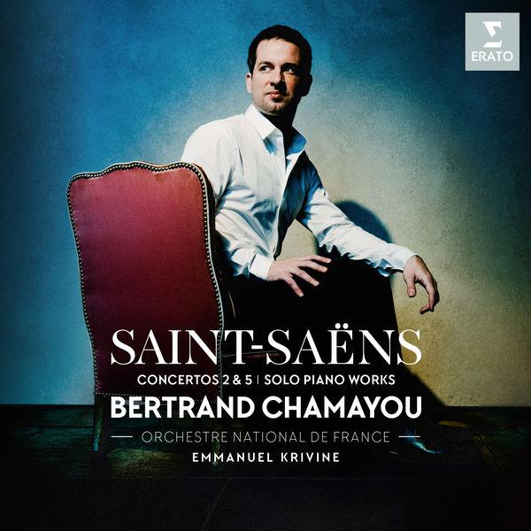 Saint Saens Concertos 2& 5 solo piano works Bertrand Chamayou Orchestre National de France Emmanuel Krivine Erato 2019 24 96